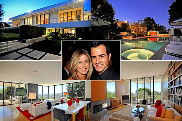 "Location: Los AngelesPrice: $21 millionBedrooms: 4Bathrooms: 6    Square Footage: 8,500Jennifer Aniston recently continued the ""Friends"" alum real estate shuffle by buying a mid-century modern house in the Bel Air section of L.A. The actress bought the house at a reduced price, as it originally listed for $249 million, according to Realtor.com. Apparently this  was her idea of simplifying, since that's the  she sold her last home for $38 million. The new digs is situated on just under 2 acres, h"