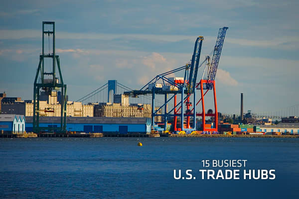 US exports are almost certain to hit a record high in 2012, remaining one of the anchors of the nation's economic recovery. For ports and other trade hubs, that means higher profits and more jobs. In keeping with the global economy, the nation's trade nexus touches the four corners of America's borders. The two-decade-old free trade agreement with Canada and Mexico is certainly a defining factor, as is the newer influence of emerging markets in the Asia-Pacific and Latin America regions. Some of