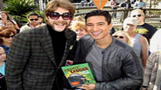 Mario Lopez with Randall, Author of