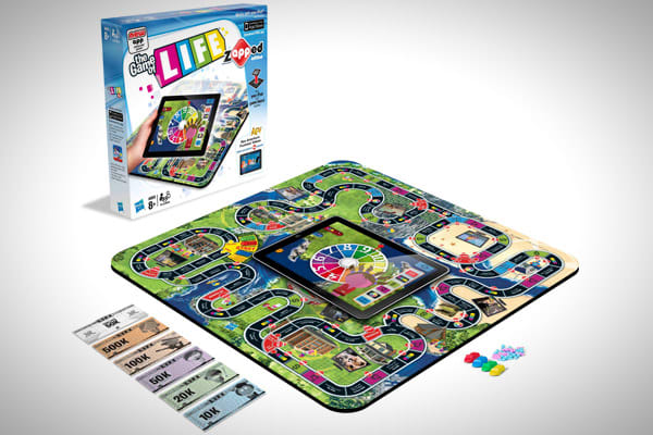 Manufacturer: HasbroPrice: $24.99Available: ImmediatelyTalk about old meets new. Hasbro is revamping some of its classic board games, including The Game of Life and Monopoly, to incorporate the use of an iPad or iPhone.Some of the features, such as a virtual spinner, offer players a nice special effect, but other features really improve the way the game is played. For example, in the Monopoly game players will be able to play virtual mini games when they pull Chance and Community Chest cards.The