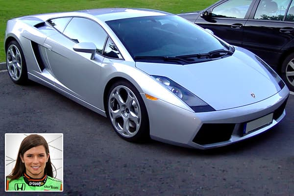 photo of Danica Patrick Lamborghini - car