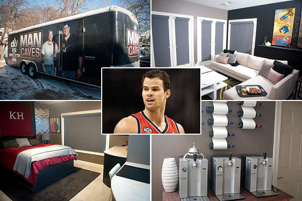 "Price: $1.55 million in 2005Location: Lake Minnetonka, Minn. Bedrooms: N/ABathrooms: N/ASquare footage: N/AAs you might have heard, New Jersey Net Kris Humphries recently had cause to move back to his house on Lake Minnetonka in his home state of Minnesota. Enter the DIY Networks program ""Man Caves,"" which intervened to properly bachelor up the Humphries pad for an episode that debuted in January.According to DIY Network, the redecorated lake hideaway features a dark palette of colors and the wi"