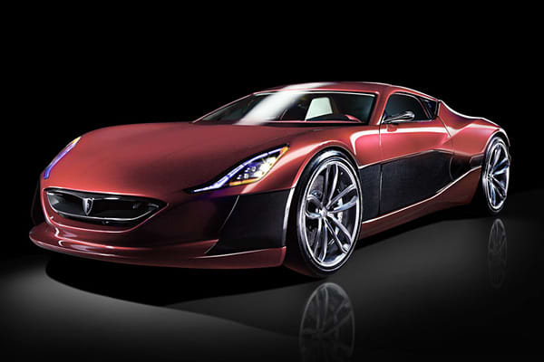 "MSRP: N/ARange: up to 373 miles0 to 60: 2.8 secondsTop Speed: 190 MPHBehold the electric supercar. The Concept One debuted last fall at the 2011 Frankfurt Motor Show, but it won't be available until 2013—and then, just 88 will be sold. ""One of the most ambitious projects for an electric car in recent years, the Rimac Concept One is an extreme supercar producing over 1000 horsepower,"" said Filiss."