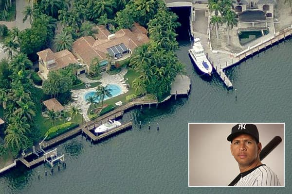 Location: Coral Gables, Fla.Price: n/aBedrooms: 6Bathrooms: 7Square footage: 8,212Alex Rodriguez of the New York Yankees is an archetype of athletic excellence, a man who shatters long-standing baseball records as often and as effortlessly as most people do the laundry. When he's not on active duty as a living legend, he's in spring training, and he owns a home in Coral Gables, Fla., that allows him to be near the Yankees' spring training facility in Tampa.The single-family dwelling was built in