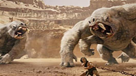"The Walt Disney science-fiction film ""John Carter,"" starring Taylor Kitsch"