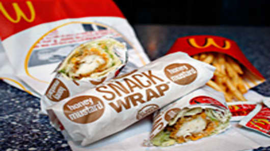 McDonald's chicken snack wrap
