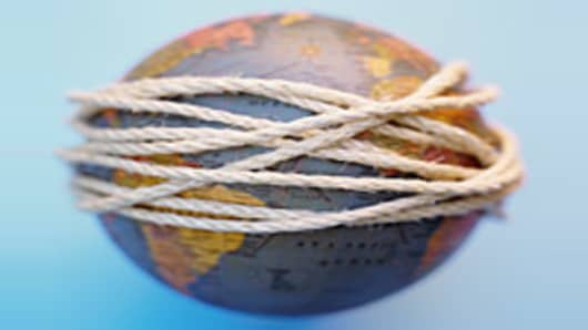 Globe wrapped in string