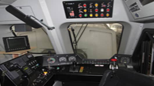 PTC equipment installed on a new Metrolink cab car