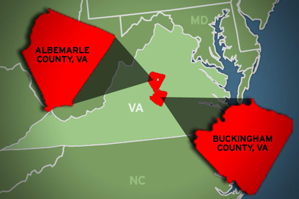 Wealth gap: 106.91% Albemarle avg. annual income: $92,414 Buckingham avg. annual income: $44,663 In central Virginia, the country's ninth-largest wealth gap is on the border of Albemarle and Buckingham counties, at 106.91 percent. Located as an enclave within Albemarle County is the independent city of Charlottesville, home to the University of Virginia and former home of two U.S. presidents, Thomas Jefferson and James Monroe. Although associated with Charlottesville, Jefferson's landmark Montic