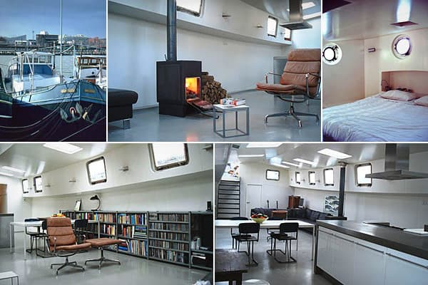 Location: AmsterdamPrice: approx. $437,700 Bedrooms: 1Bathrooms: 1Length: approx. 95 feet Anyone who has visited the Netherlands has witnessed the proliferation of houseboats on the canals of this sub-sea-level country, where they're called  or . The website AmsterdamHouseboats.nl  the number in the city at2000. At first they were cheaper than traditionalapartments, but no more. The barge-type boat pictured here is located 15 minutes from Amsterdam's city center. You might not guess from the shi