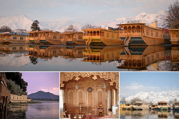 Location: Jammu and Kashmir, IndiaPrice: see belowBedrooms: variesBathrooms: variesLength: variesThe state of Jammu and Kashmir, located far north in the Himalayans, is famous for its wooden houseboats, many of which are stationary and are rented out as hotel suites.Kashmir houseboats have a front porch, elaborate hand-carved cedarpaneled walls, a sitting room, dining room, pantry and bedrooms. Recent  for a top-ranked houseboat in Srinagar, the state's capital, ran around $138 - $208 per night.