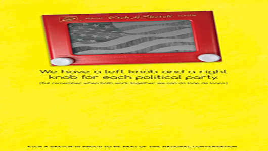 Etch-A-Sketch on the campaign trail advertisement