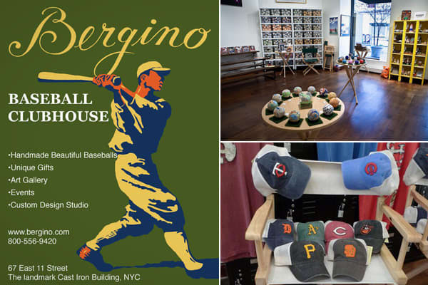 Location: New York, New York It's the kind of tiny treasure that you can only find in Manhattan. Tucked in a landmark Greenwich Village building, the is dedicated to the notion that – never mind soccer – baseball is truly the beautiful game. Bergino makes baseballs – beautiful baseballs. At Bergino (named for Jay Goldberg and his founding partner, creative director Tony Palladino), you can buy leather baseballs embossed with the U.S. Constitution, holiday decorations, The New York Times crosswor