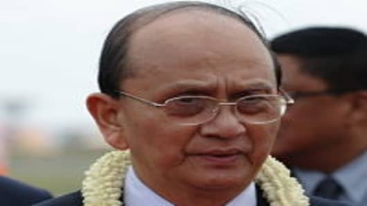 Myanmar's president Thein Sein during a visit to Cambodia this month.
