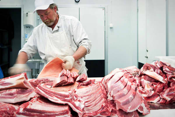 "2012 pay: $29,156 2011 pay: $29,150 Change in pay: flat Independent butchers are a dying breed. What's happening in the industry is that all of the butchering for big supermarket chains is being centralized, Lee said. That has automatically reduced the need for the number of butchers. It's also made meat cheaper at the grocery store than at independent butcher shops, which, during the recession, was a killer for independent butchers. ""If people can buy beef at the supermarket for less, there was"