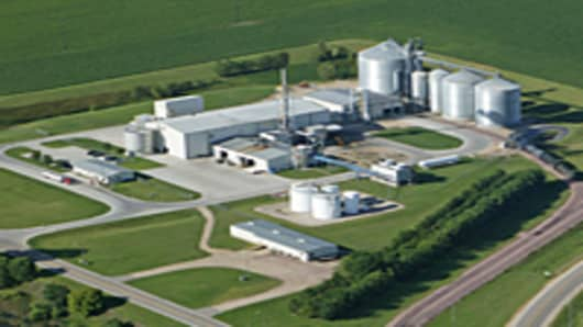 An aerial shot of Gevo's Luverne, Minnesota, green isobutanol plant.