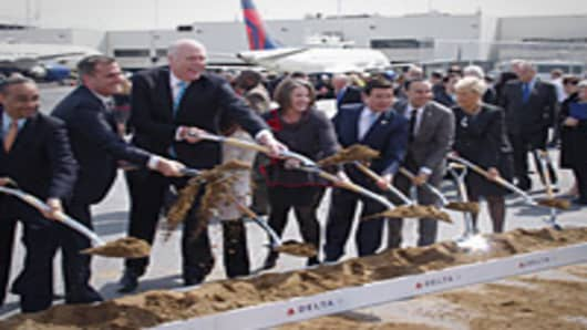 Delta groundbreaking ceremony at LaGuardia Airport.