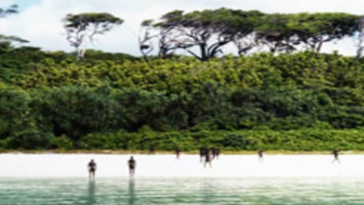 Beach at North Sentinel Island