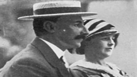 Mr and Mrs Astor, First Class passengers on Titanic, Madeleine Force and John Jacob Astor had been on an extended honeymoon in Egypt and Paris and in the spring of 1912, decided to return to America on board Titanic.