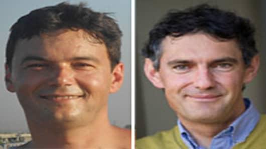 Thomas Piketty (L), Emmanuel Saez (R)