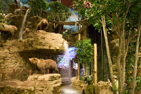 Attraction: wildlife mounts, aquariumsLocation: 58 locations in North AmericaThis outdoor retailer sells things like fishing gear, camping equipment and clothing. However, it also has an added bonus for nature enthusiasts: Wildlife mounts are displayed throughout each store. The museum-quality mounts of animals like bears, moose, and deer can be seen in replicas of their natural settings. Visitors are also treated to fish-filled aquariums and in some cases, a separate aquarium with live alligato