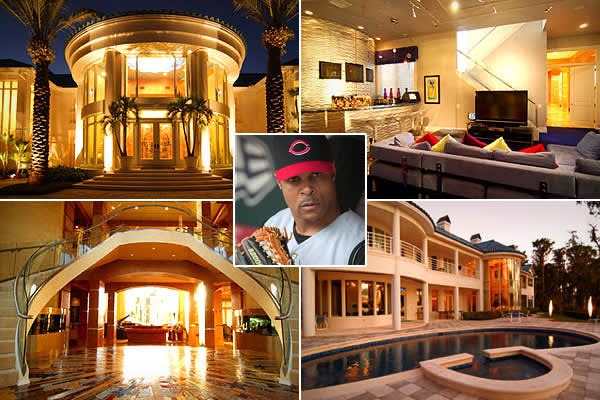Price: $10.9 million  Location: Orlando, Fla.Bedrooms: 6Bathrooms: 10 full, 3 halfSquare footage: 14,477The former shortstop for the Cincinnati Reds and newest member of the Hall of Fame is  his Orlando party palace located on 2.8 acres in the Isle of Osprey / Bay Hill Community on Lake Chase. The home has two separate docks, one accommodating up to four boats and the other three Jet-Skis. Other features include a lighted tennis court, outdoor basketball court, and full kitchen with theater and