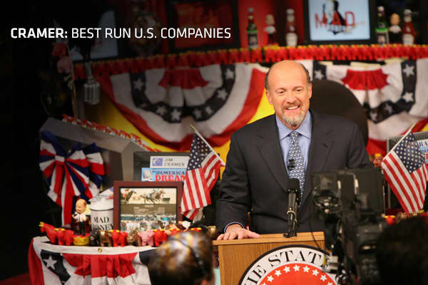 "One of the biggest myths today is that the U.S. doesn't make things anymore, Jim Cramer said on CNBC's ""Mad Money."" In actuality, there are a lot of great American companies that have been around for a long time, he said. These U.S.-based businesses do a great job of finding ways to make money in any situation, including Europe's ongoing debt crisis and an economic slowdown in Asia.""The fact is, many of our older, more experienced executives who work at fabulous American companies not only used"