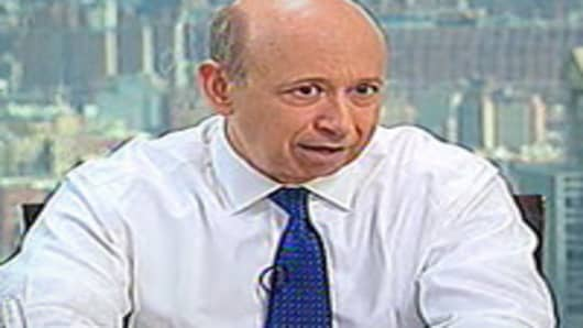 Lloyd Blankfein, CEO of Goldman Sachs speaks to Gary Kaminsky on April 25, 2012.