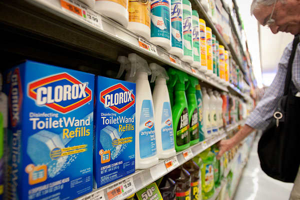 Cramer likes Clorox because it makes everything from cleaning products, such as Pine-Sol to cat litter under the Fresh Step brand, as well as Hidden Valley Ranch salad dressing and Kingsford's charcoal, among many other products. People don't stop buying these items because of the economic slowdown, Cramer said. The company does have to deal with rising commodity costs and it's also facing competition from generic brands, but he thinks these issues are already baked into the stock. Clorox is sel
