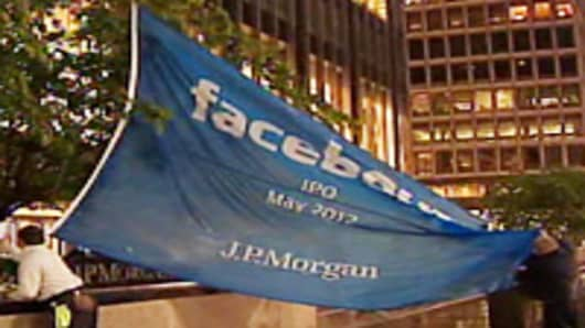 Facebook flag at JP Morgan