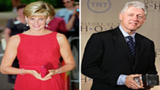 Princess Diana, Bill Clinton split