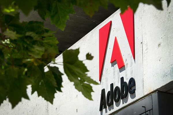 32.74 percent Microsoft Salesforce.com Oracle Intuit Adobe Systems