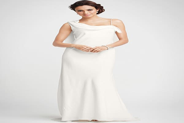 "Carolyn One Shoulder Gown: $550the women's retailer that's been around for nearly 60 years, began offering bridal gowns in 2006.With 15 to 20 new gowns each year, the company says it has something for every body type at a great price. In sizes 00 to 18, they're fashioned from silk, chiffon, cotton and lace, and sold online for $550 to $950 this season. The gowns are feminine, romantic and modern, says Ann Taylor style director Andrew Taylor. ""Brides get an elegant, chic, fashion-inspired modern"