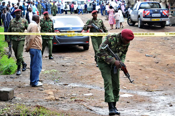 There is a severe threat of terrorism in Nairobi, with frequent attacks being carried out. Westerners are also warned of all but essential travel to low-income areas of the city, which experience high crime levels. Recent attacks in the city in 2012 include a grenade attack on a church near Nairobi city center on April 29 (pictured left), with one death reported. A series of suspected grenade explosions in the central business district on March 10th killed at least six people and wounded dozens.