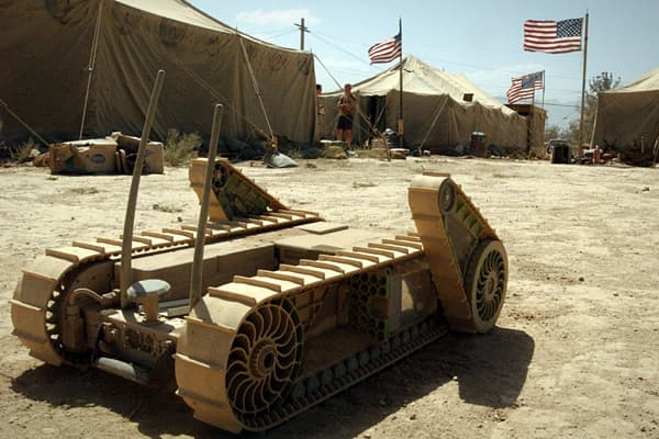 War robots have proliferated in Iraq and Afghanistan including iRobot's PackBot, pictured. Now more civilian applications for war robots are emerging. Robotics is on the cusp of remaking many private-sector industries from agriculture to medicine. Imagine unmanned aerial vehicles monitoring crops and the environment; robots dropped onto nuclear plants to investigate disasters; medical robots, or medbots, delivering medicine. But there's no need to imagine, as many of these advanced robots are in