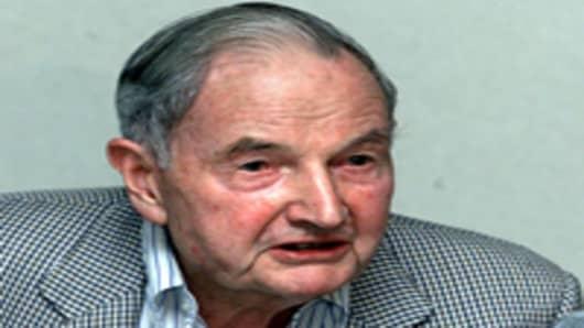 US banker David Rockefeller