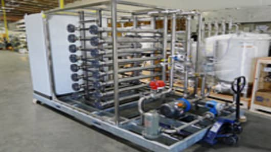An OriginOil flocculation unit