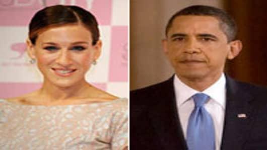 Sarah Jessica Parker and President Barack Obama