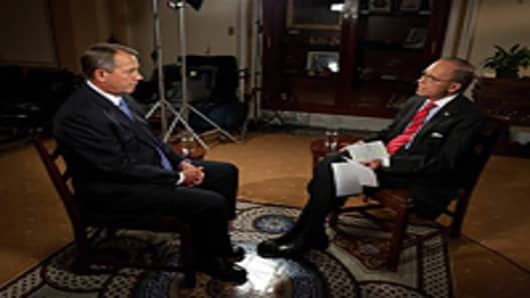 Larry & Speaker Boehner earlier today.