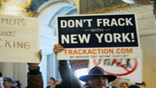 Anti fracking protes in NY