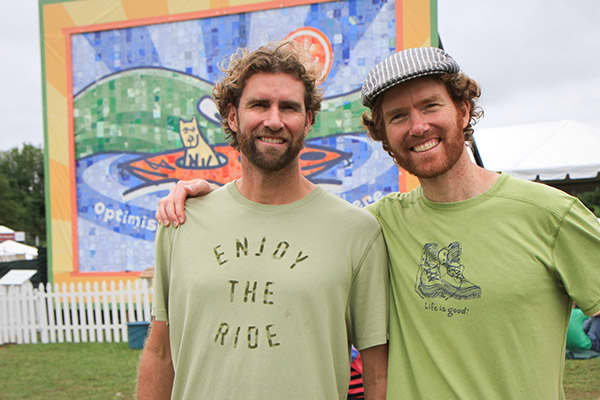 """Bert and John Jacobs designed their first t-shirts in 1989 and hawked them on the streets of Boston and at colleges along the East Coast. But for five years, success eluded them. Then, in 1994, they struck upon the idea to use a design of a cartoon figure called Jake and the motto """"Life is good."""" People seemed to embrace the simple message of optimism — the shirts were a hit at a local street fair and retailers soon became interested.Now Jake's face and motto are on more than just shirts. You ca"""