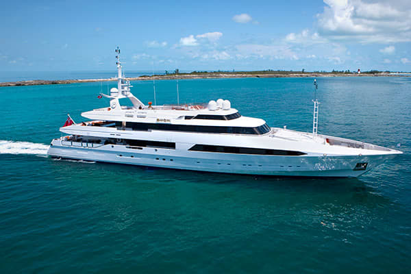 Bad Girl, a 186-foot cruiser, has a double master cabin with dressing room, double office and his-and-hers en suite bathrooms. It also has a gym, sauna, Jacuzzi and two Kawasaki jet skis. It charters for $250,000 a week but 10 percent discounts are being offered.