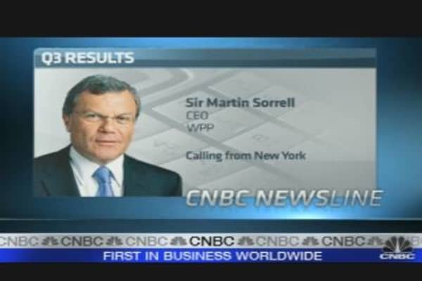 WPP Confident on Fourth Quarter