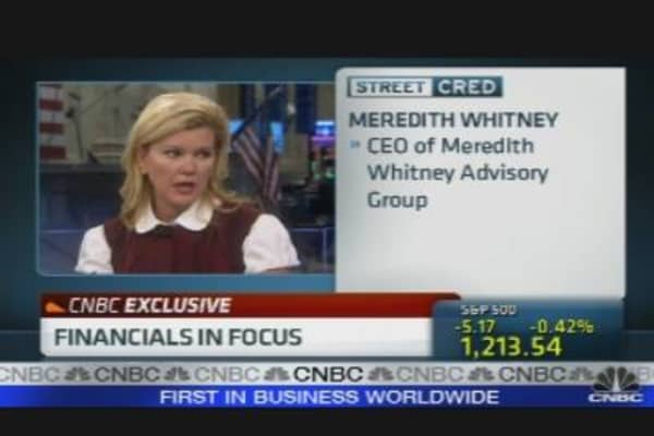 Meredith Whitney on Financials & Politics