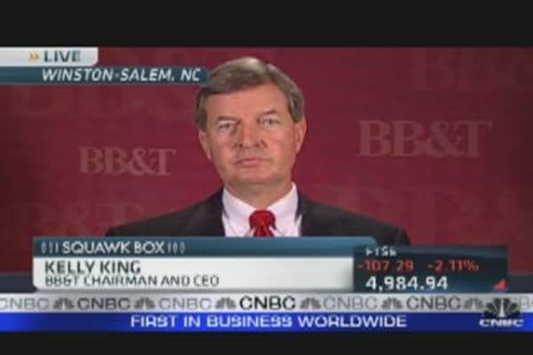 BB&T CEO: Europe Bank Crisis Overblown