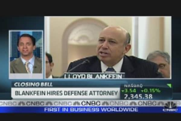 Blankfein Hires Defense Attorney