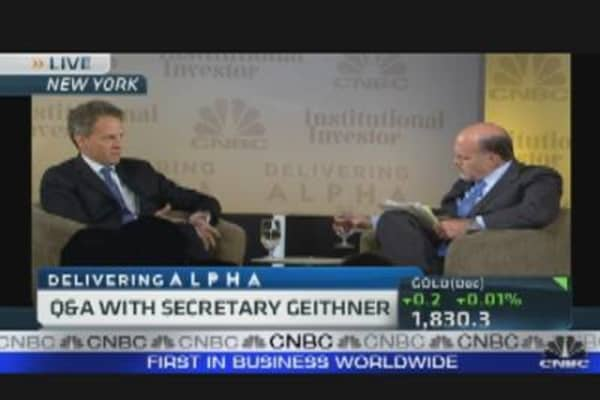 Delivering Alpha: Cramer & Geithner