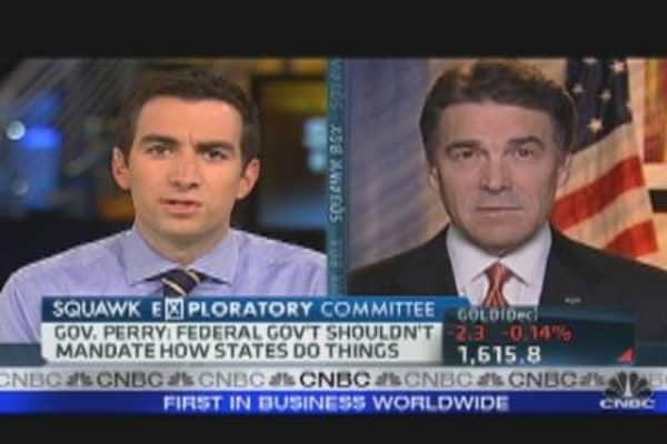 Gov. Rick Perry Slams Buffett Rule