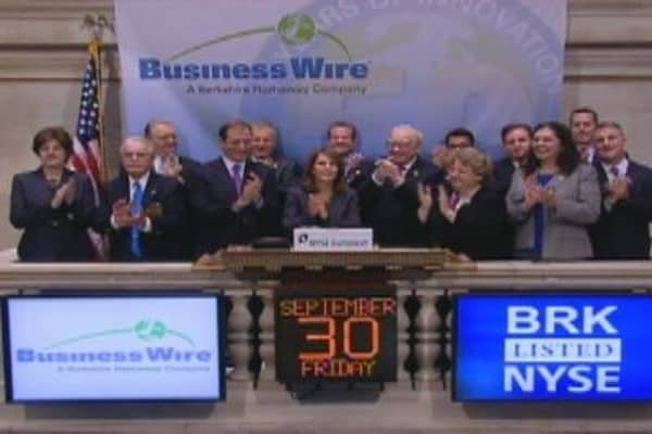 Buffett at Opening Bell