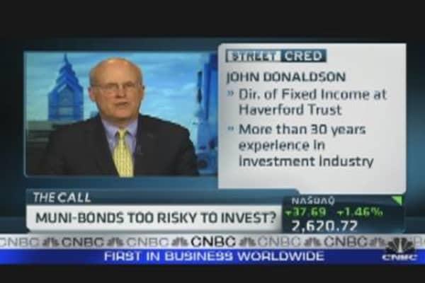 Muni Bonds Too Risky to Invest?